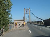 at the Ancenis Bridge
