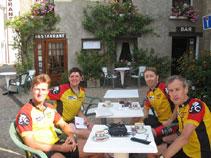 Coffee stop at L'Ile Bouchard