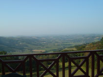 The view from the top of the Col d'Osquich