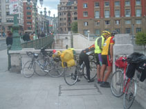 Julian, Chris and Gareth in Bilbao