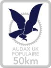 Audax 50km Badge
