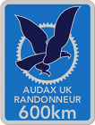 Audax 600km badge