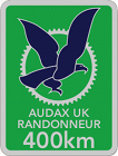Audax 400km Badge