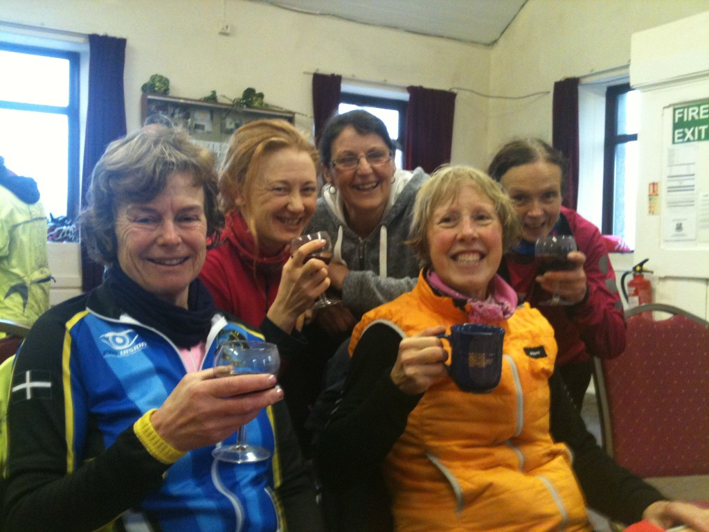 Falmouth Wheelers Ladies - damp but happy